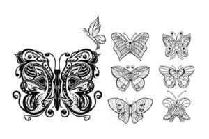 Mandala butterfly free vector