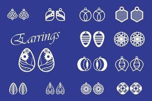 Earrings set free vector