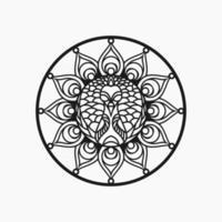 mandala con diseño de concepto de pavo real vector gratuito