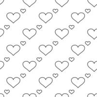 Modern banner with seamless pattern of hearts on background Abstract love symbol vector