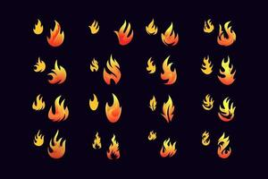 Flame set free vector