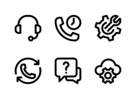 Simple Set of Help and Support Related Vector Line Icons. Contains Icons as Headset, Call Waiting, Cloud Configuration and more.