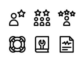 Simple Set of Help and Support Related Vector Line Icons. Contains Icons as Customers, Life Saving, Diagnosis Report and more.