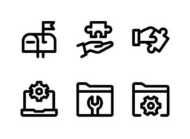 Simple Set of Help and Support Related Vector Line Icons. Contains Icons as Mailbox, Problem Solving, Computer Settings and more.
