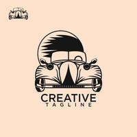 Classic car logo free vector