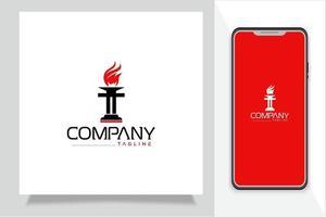 Torch logo free vector