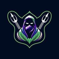 Ninja mascot free vector
