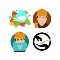 Construction shooping icon design vector free