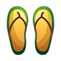 Isolated summer sandals vector design
