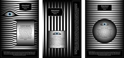 A set of brochures to attract attention vector