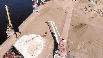 last flodhamn. sommardag, luftfotografering video