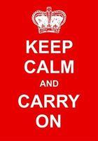 mantén la calma y continúa cartel vector