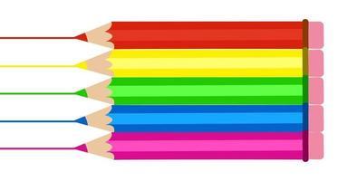 Artistic Colouring Pencils vector