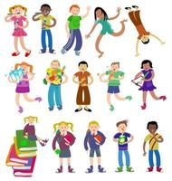 Group of Activity Kids vector