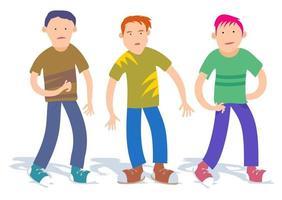 Three Teenage Boy Buddies vector
