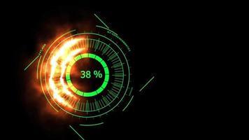 compteur numérique couleur verte puissance énergie feu écran noir video