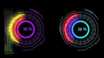 compteur numérique puissance énergie rouge bleu fusion puissante vente d'été video