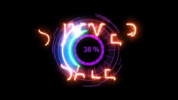 Digital meter power energy electric purple summer sale for banner and analysis advertise video