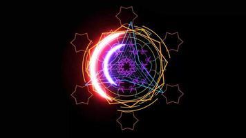 paarse kracht energie magisch wapen roze kleur krachtig rond video