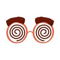 crazy goggles fools day accessory vector