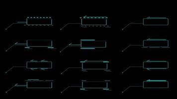 Call out digital blue tone HUD elements digital technology motion video