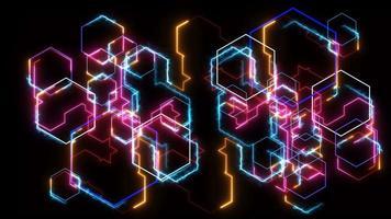 futuristic digital big data processing powerful energy super speed laser light transfer information video