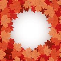 hojas de arce otoñal alrededor de diseño de vector de círculo