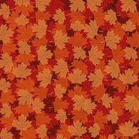 diseño de vector de fondo de hojas de arce otoñal