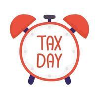 diseño de vector de reloj de día de impuestos
