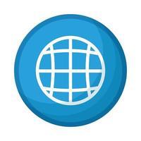 sphere planet browser button social media icon vector