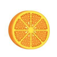 orange citrus fruit healthy icon vector