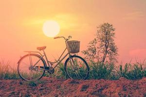 hermosa bicicleta vintage. foto