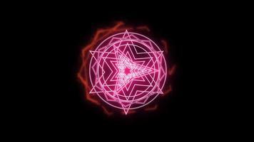 twaalfhoek vuur rond kracht magisch wapen roze krachtig video