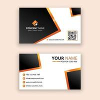 creative and clean business card vector template yellow and black