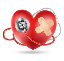 stethoscope and a heart shape vector