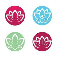 Beauty lotus logo images vector