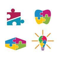 Ilustración de imágenes de logotipo de rompecabezas vector