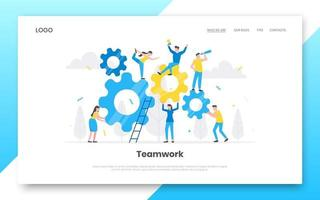 Business internet landing page concept template. vector