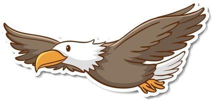 Diseño de etiqueta con un águila aislado vector