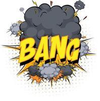 explosión de la palabra en el fondo de explosión de nube cómica vector