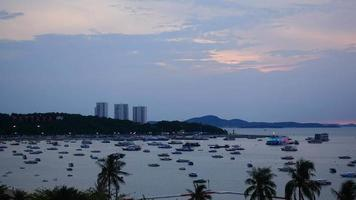 timelapse de la baie de la ville de pattaya en thaïlande video