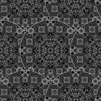 Black White Monochrome Mandala Boho Seamless Pattern vector