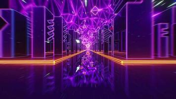 3d toekomst neon licht achtergrond stad golf draad geluidsgolf illustratie modern video