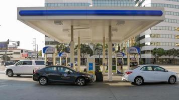 Self-service gas pump in Los Angeles photo