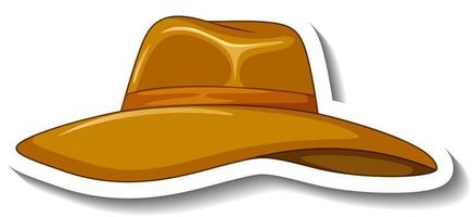 A sticker template with a floppy hat isolated vector
