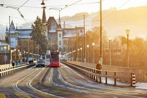 Electric streetcar Bern, Switzerland photo