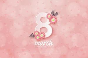 Women's Day background illustration March 8th. vector
