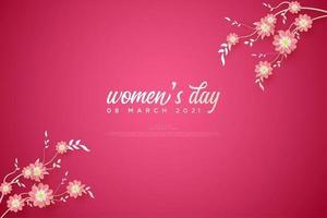 Women's day background illustration. vector