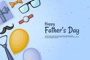 Father's day with kit and gift box. vector