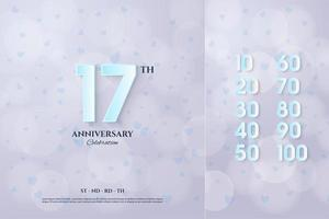 Anniversary background illustration with assorted numbers. vector